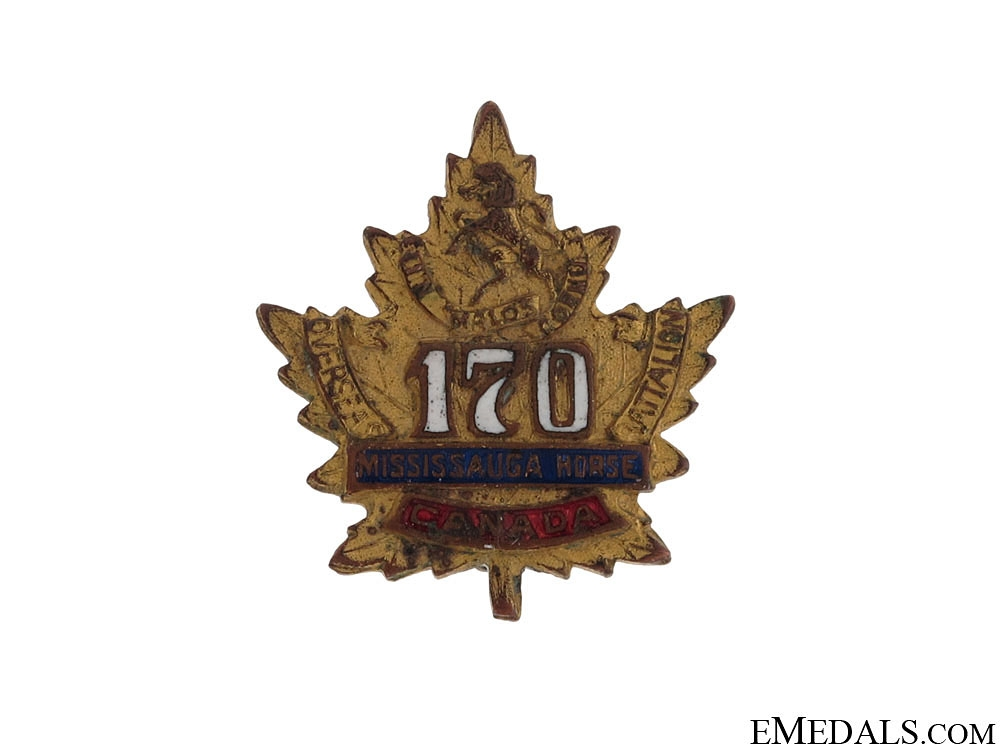 170th Mississauga Horse Sweetheart Pin