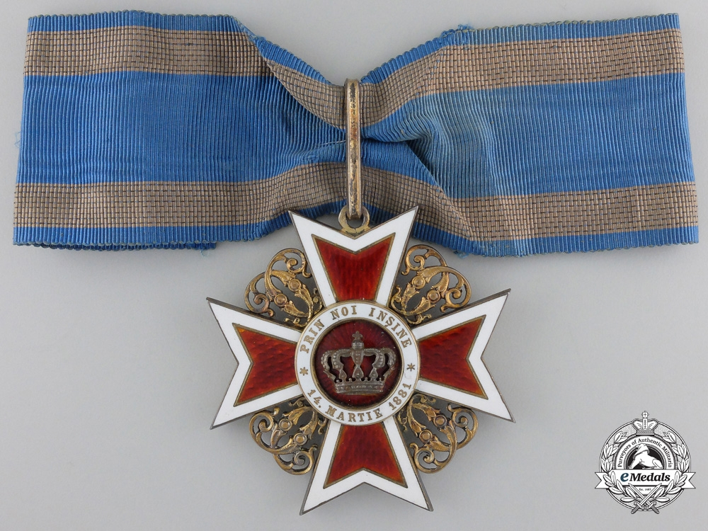 An Order of the Romanian Crown; Commander by Karl Fischmeister