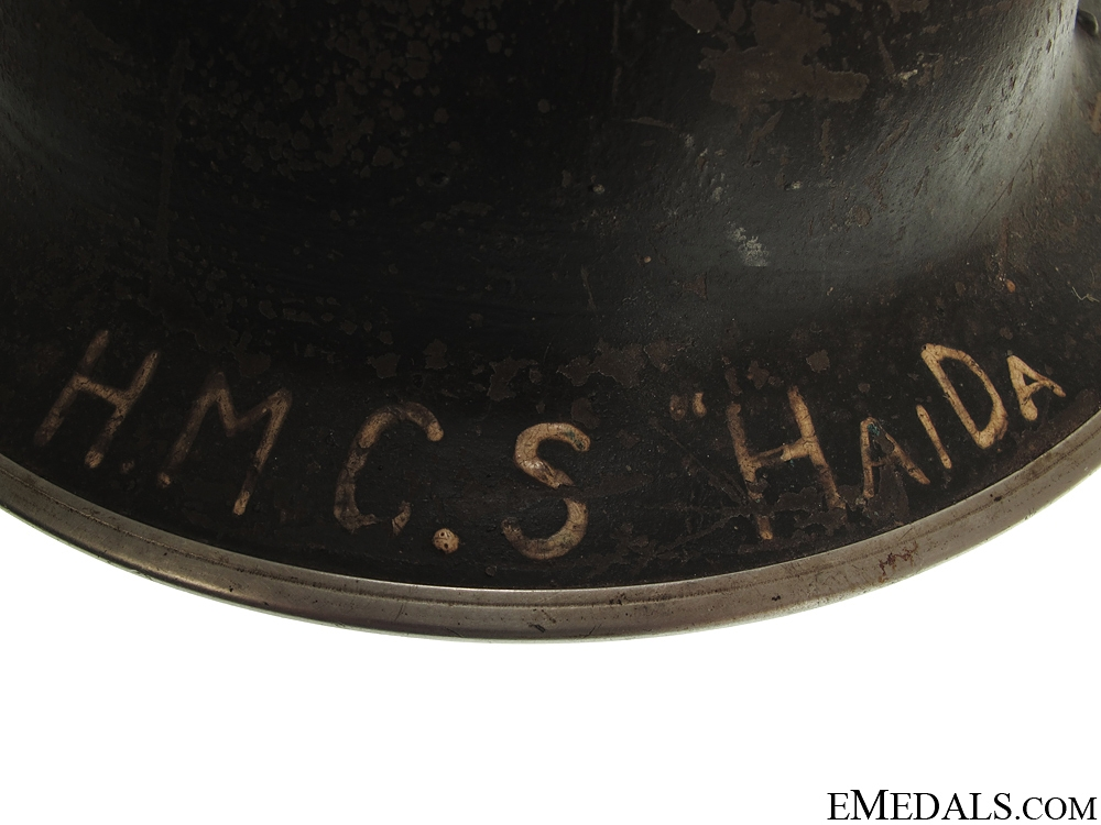 WWII Canadian Helmet - HMCS Haida