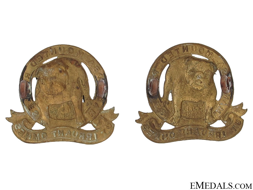 Manitoba Mounted Rifles Officer Collar Badges