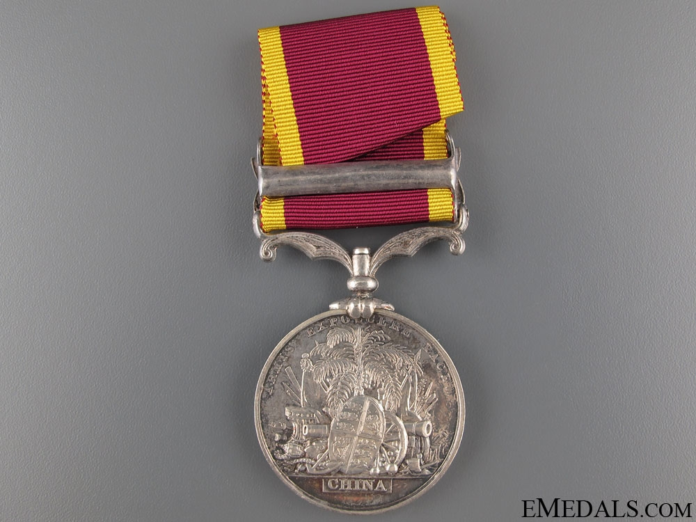 Second China War Medal 1860 - HMS Pearl