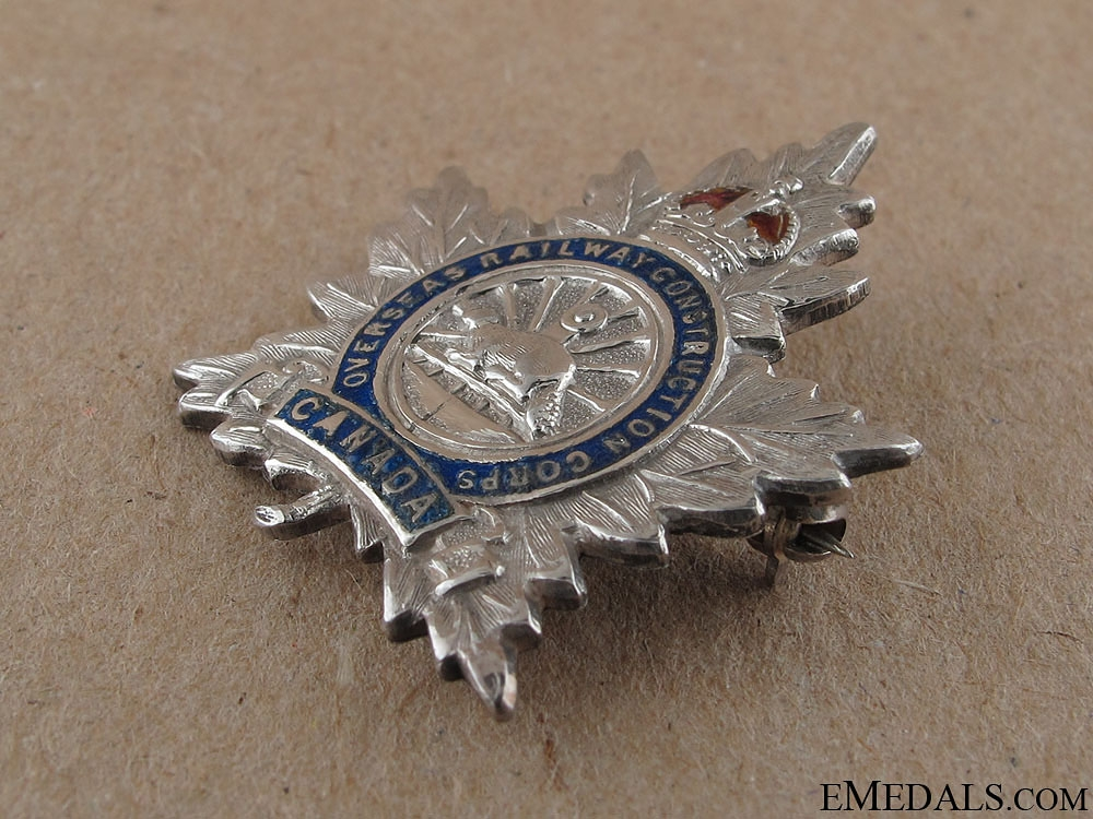 WWI Overseas Railway Construction Corps Pin