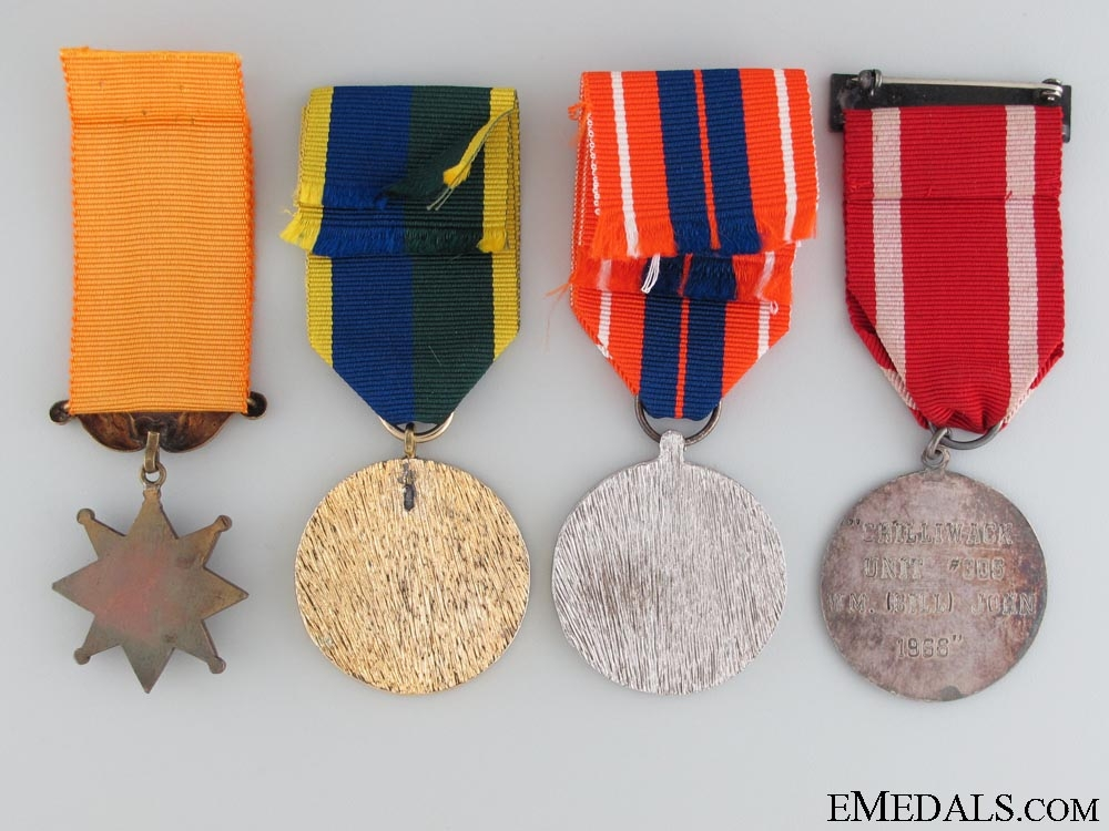 Four Canadian Veterans Medals