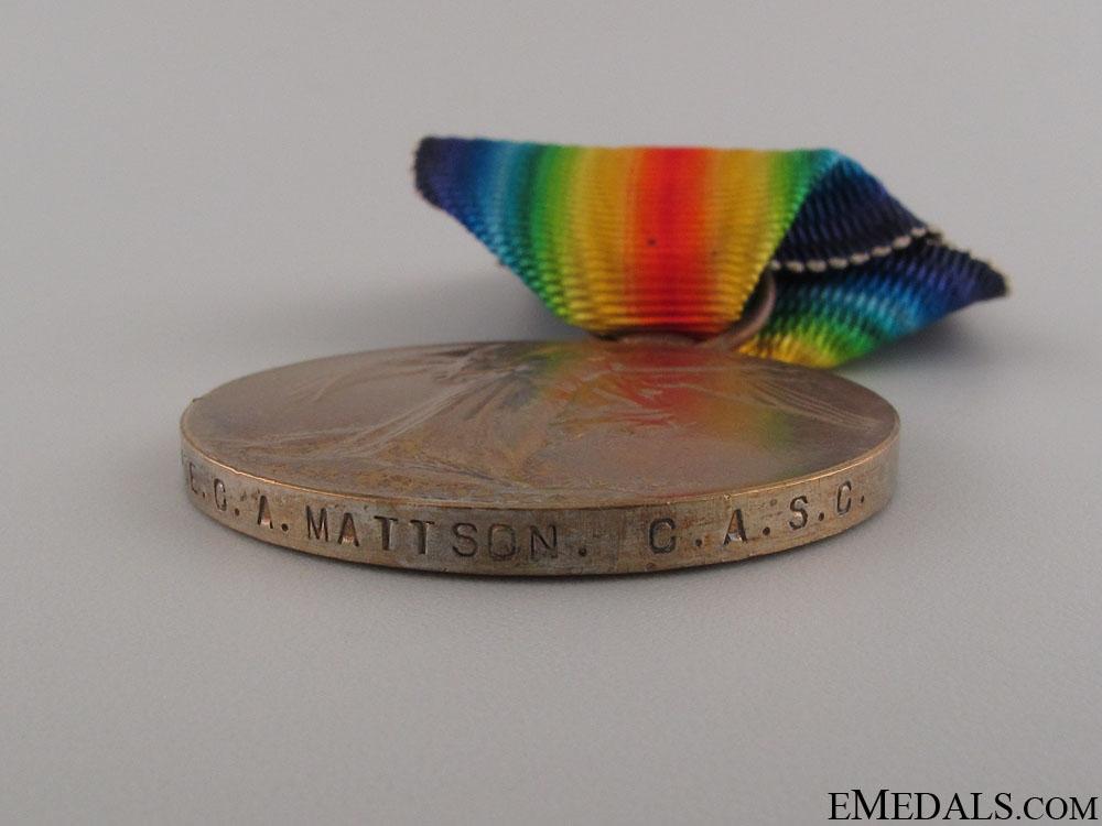 WWI Trio to Private Carl A. Mattson DOD