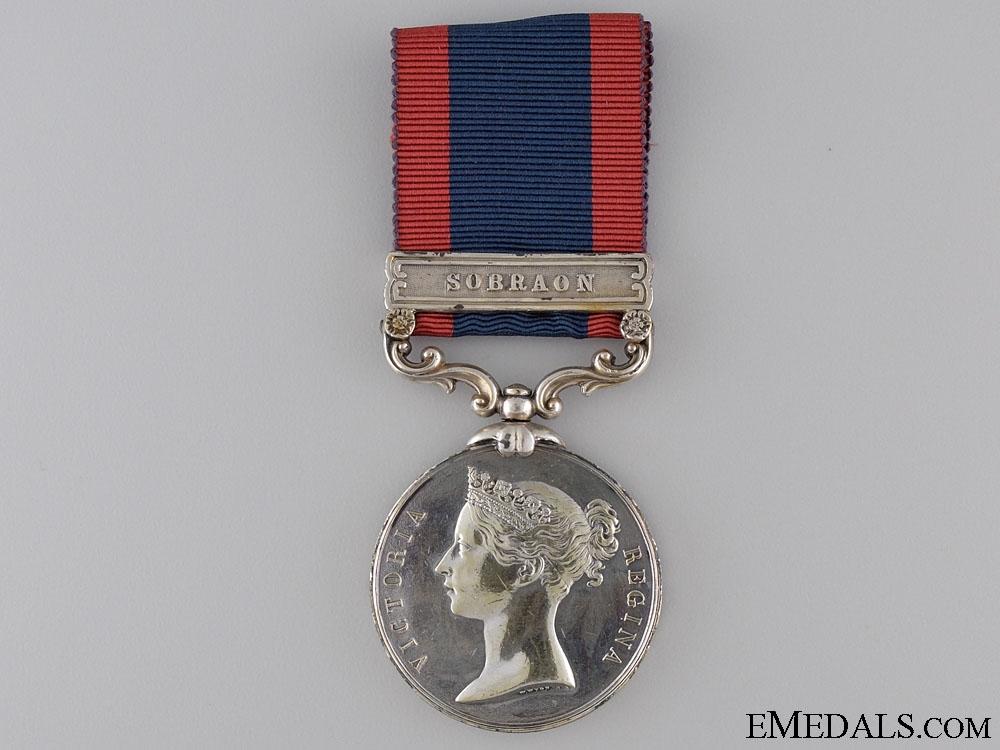 An 1845 Sutlej Medal; Unnamed