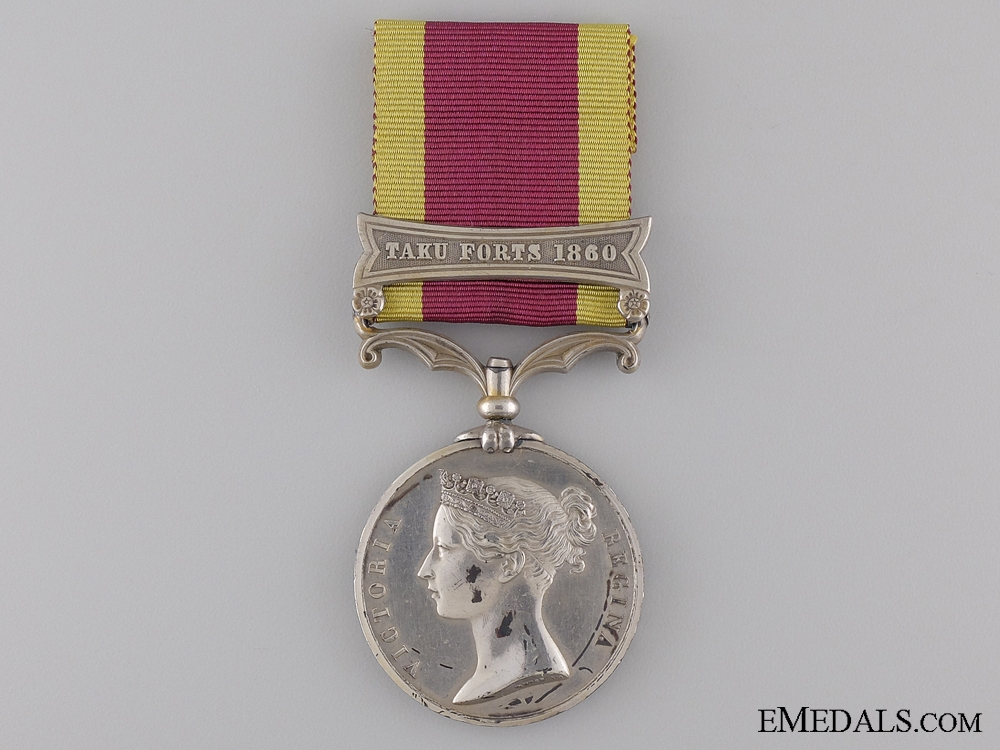 1860 Second China War Medal to the Indian Navy