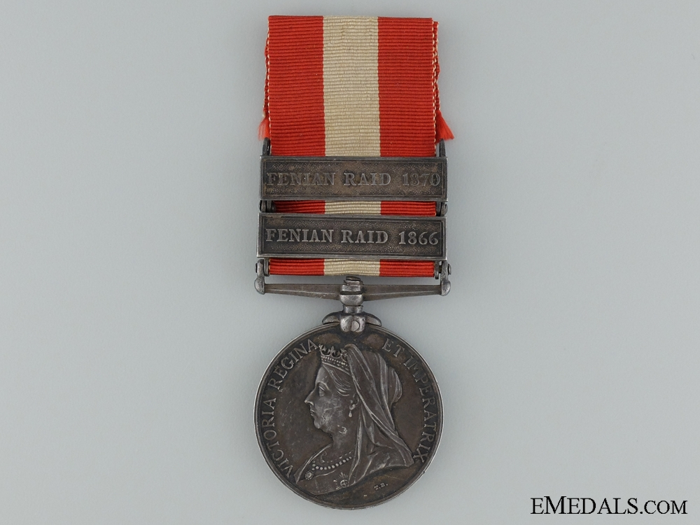 1866 & 1870 Canada General Service Medal to the 11th Argenteuil Rangers