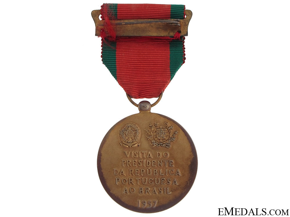 Visit of General Craveiro Lopes to Brazil Medal