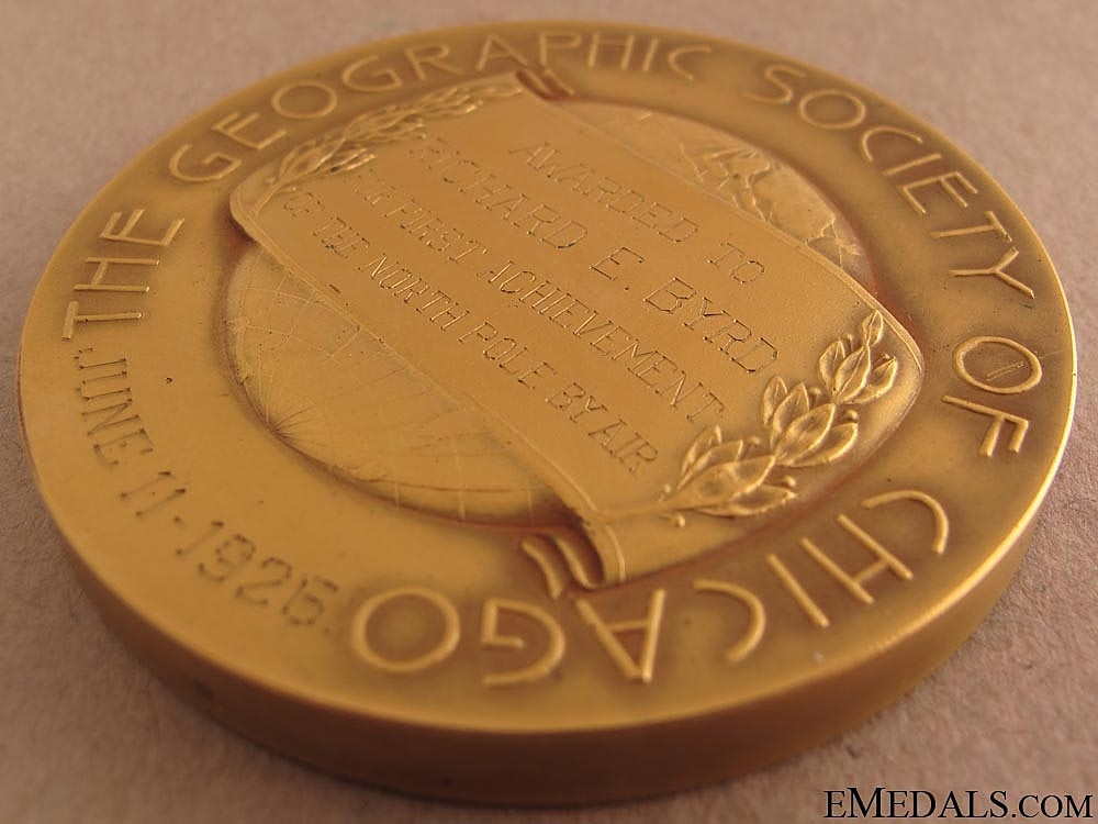 The Geographic Society Helen Culver Gold Medal
