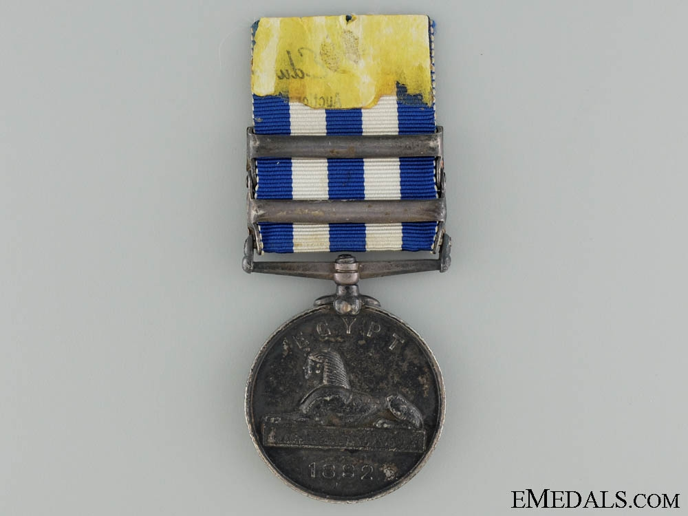 An 1882 Egypt Medal with Two Bars