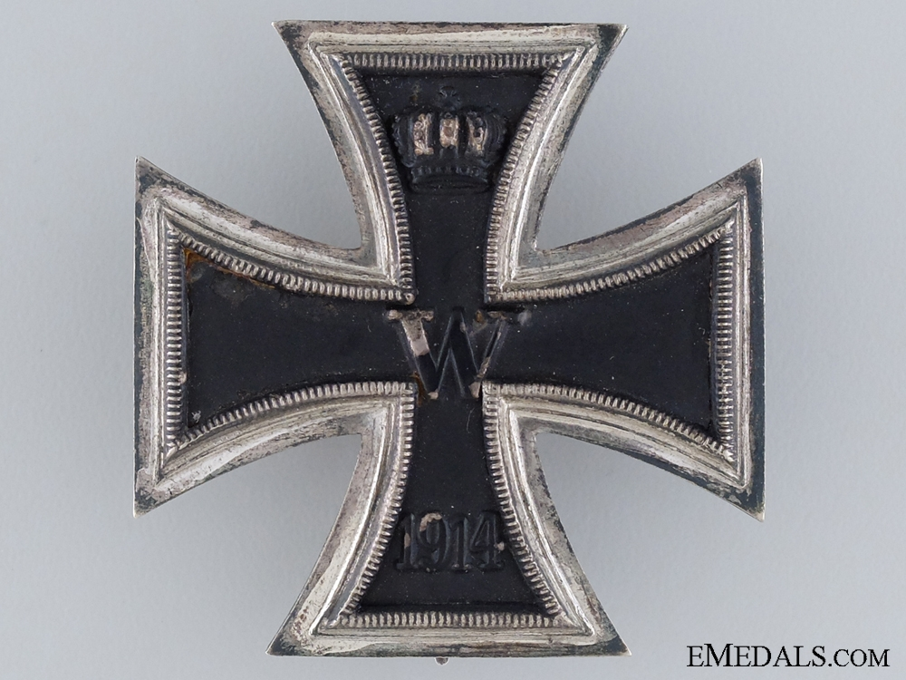 1914 First Class Iron Cross; Personalized