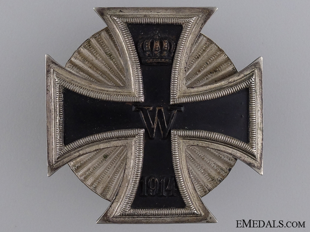 1914 First Class Iron Cross;  Clamshell Screw Back Version