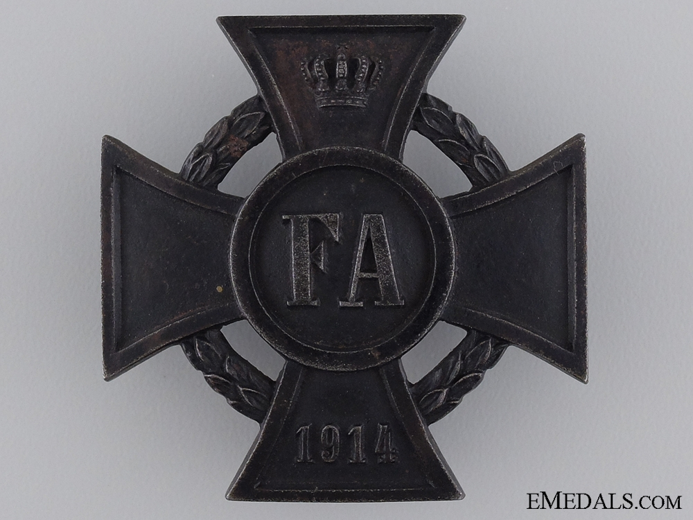 1914 Friedrich August Cross; First Class