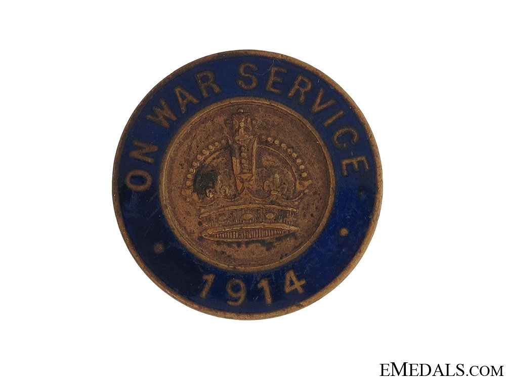 1914 On War Service Munition Workers Badge