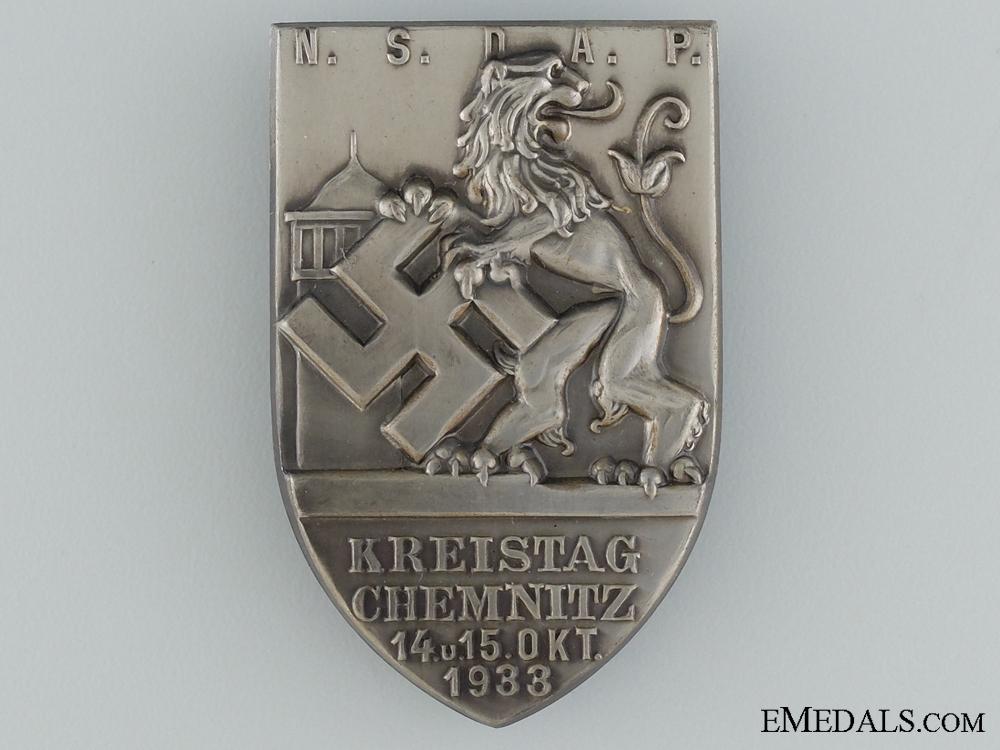 1933 NSDAP Kreistag Chemnitz Tinnie