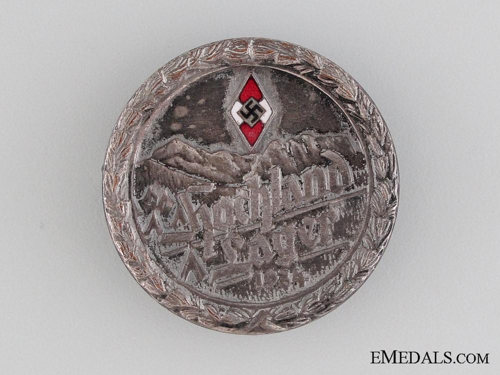 1934 HJ Hochlandlager Pin