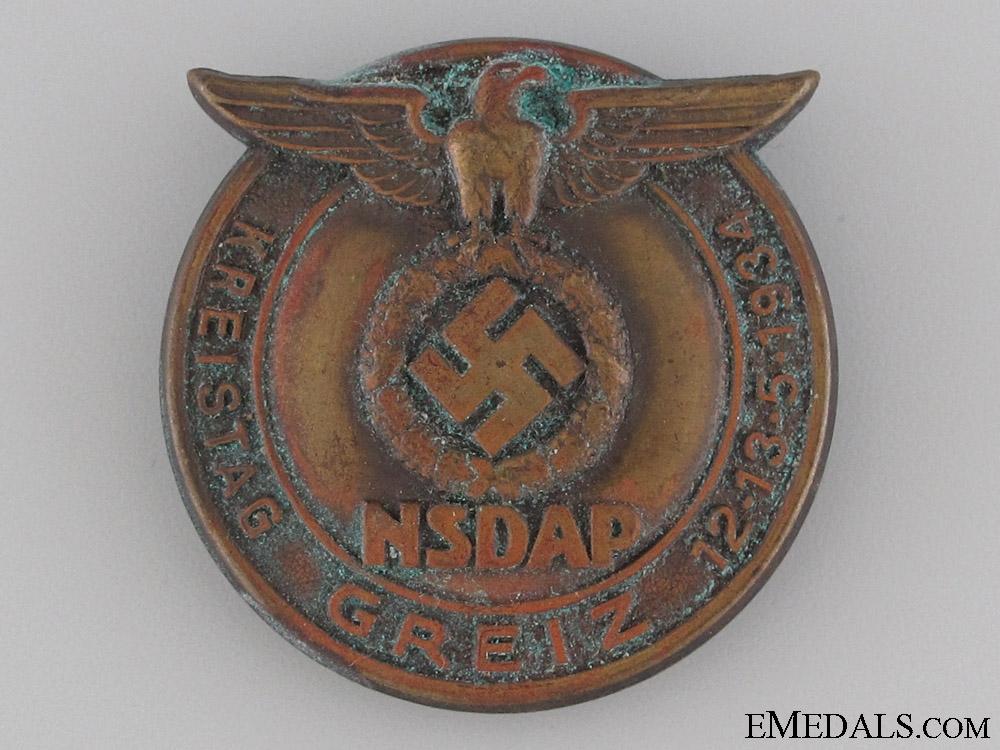 1934 NSDAP Kreistag Greiz Badge