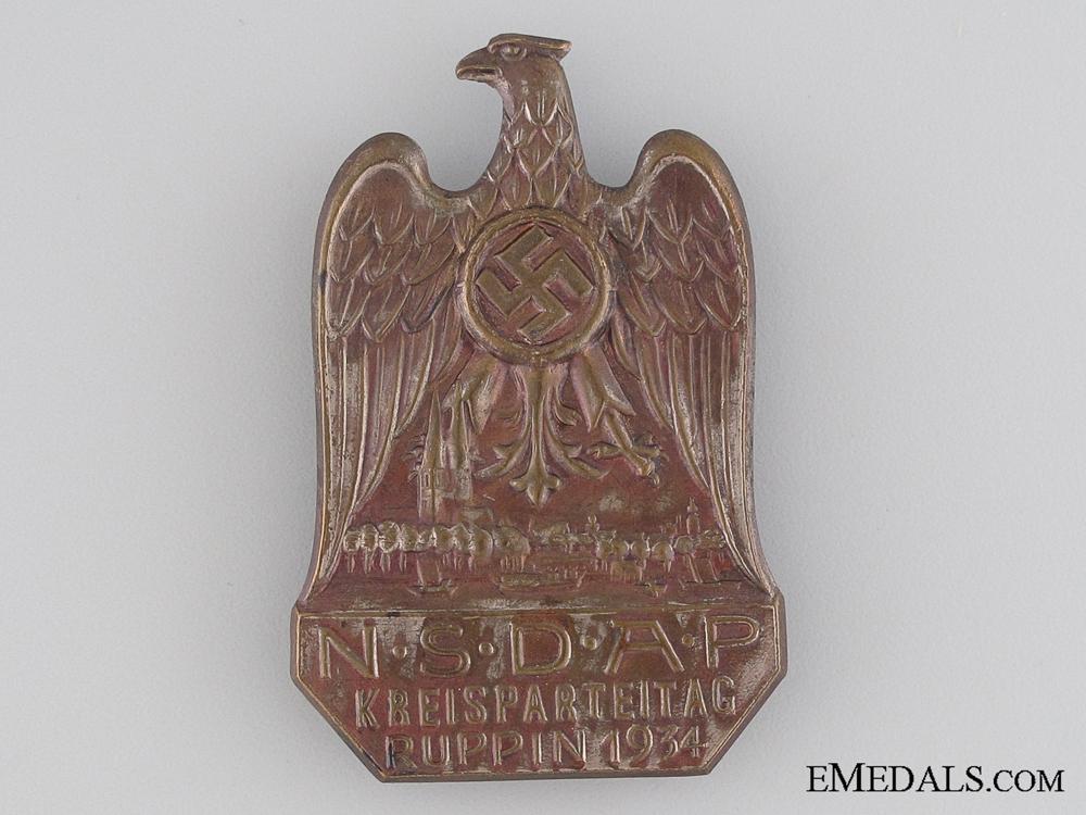 1934 NSDAP Ruppin Tinnie