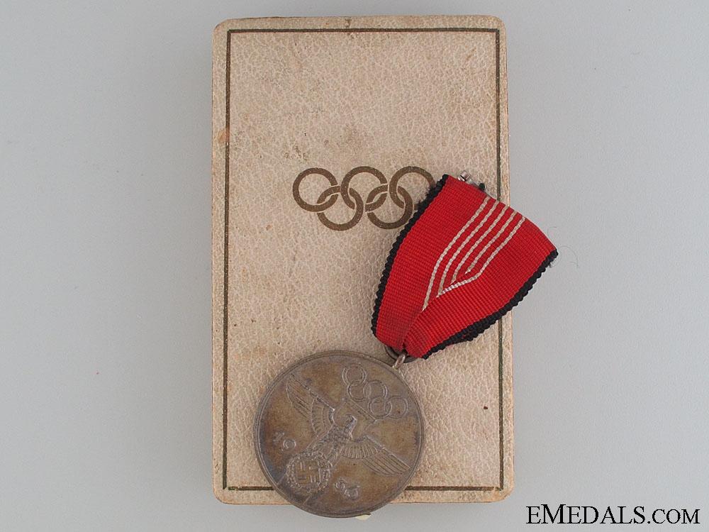1936 Berlin Summer Olympic Games Medal Cased