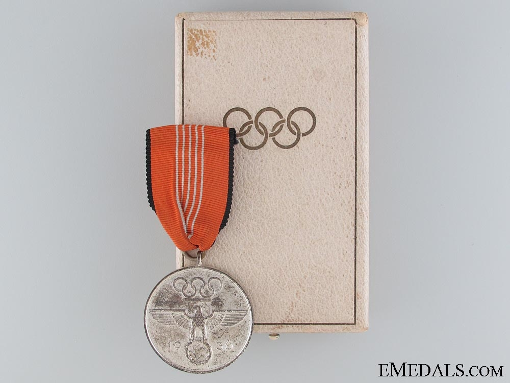 1936 Berlin Summer Olympic Games Medal Cased