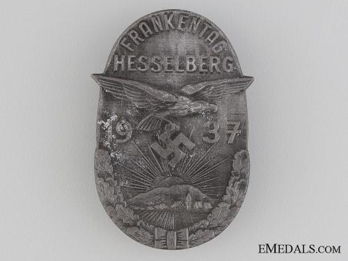 1937 Hesselberg Frankentag Badge