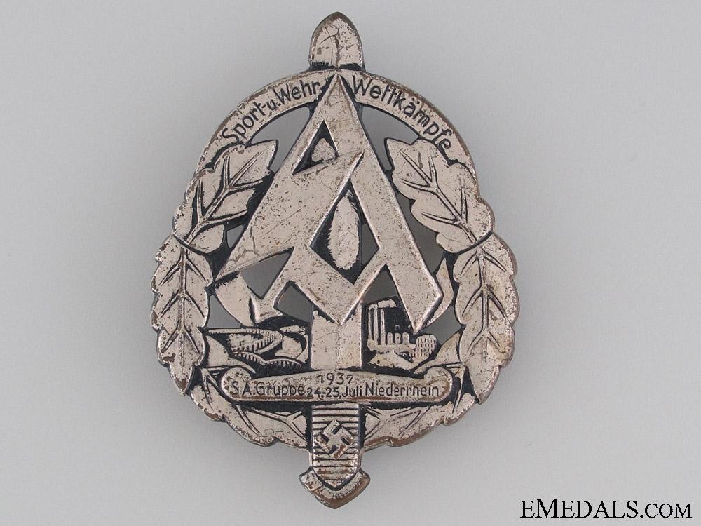 1937 SA Sports Day Badge