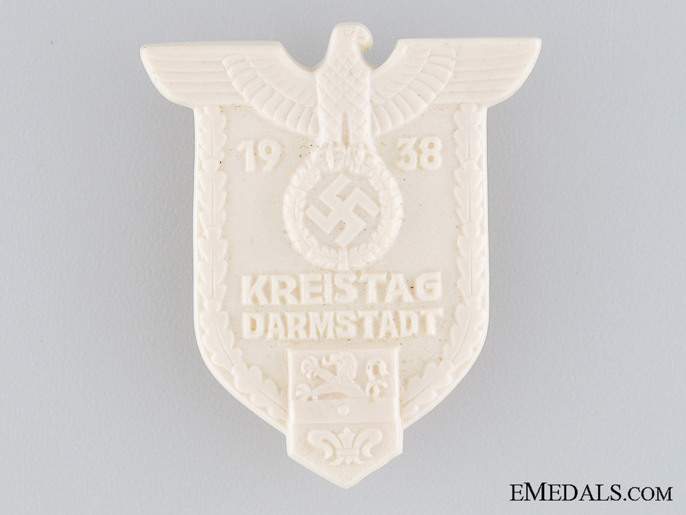 1938 Darmstadt Kreistag Tinnie