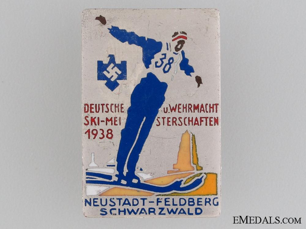1938 German and Wehrmacht Ski Championships Award