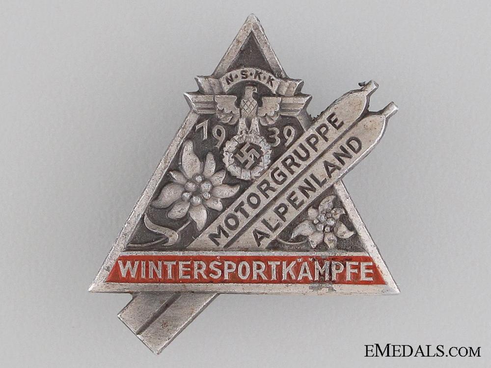 1939 NSKK Alpenland Motor Group Badge