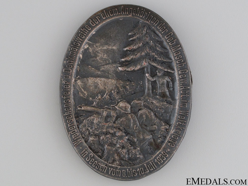 1939 Reunion and Memorial Dedication Badge