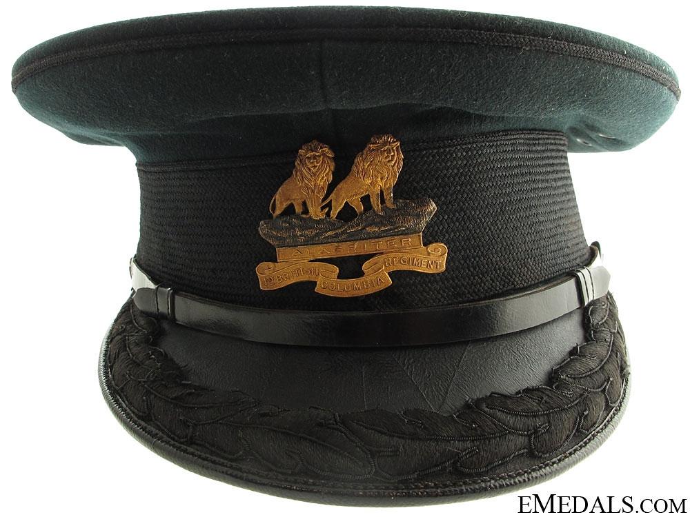 1st British Columbia Regiment General's Visor