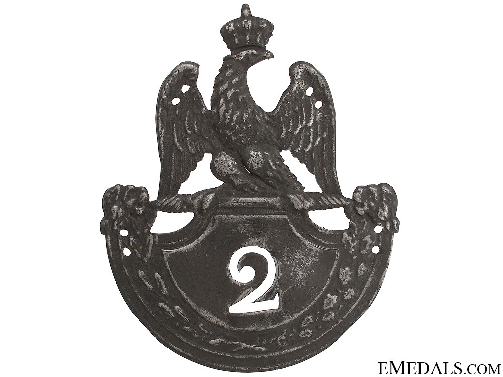 1st Empire 1812 Model 2nd Regiment Helmet Plate