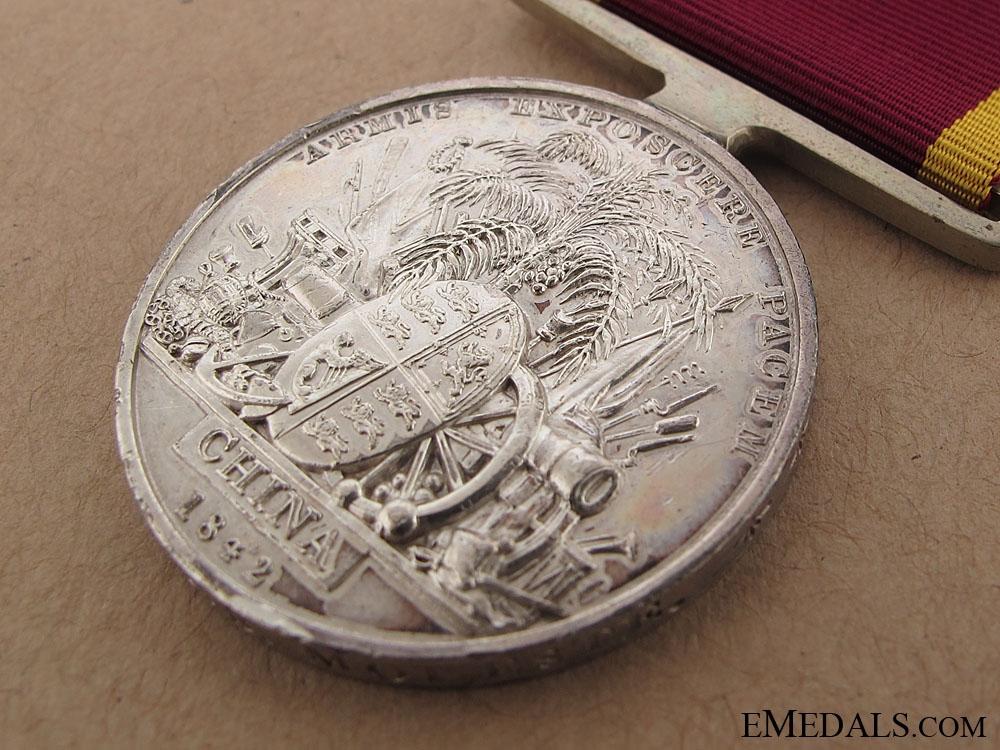 China War Medal 1842 - H.M.S. Modeste