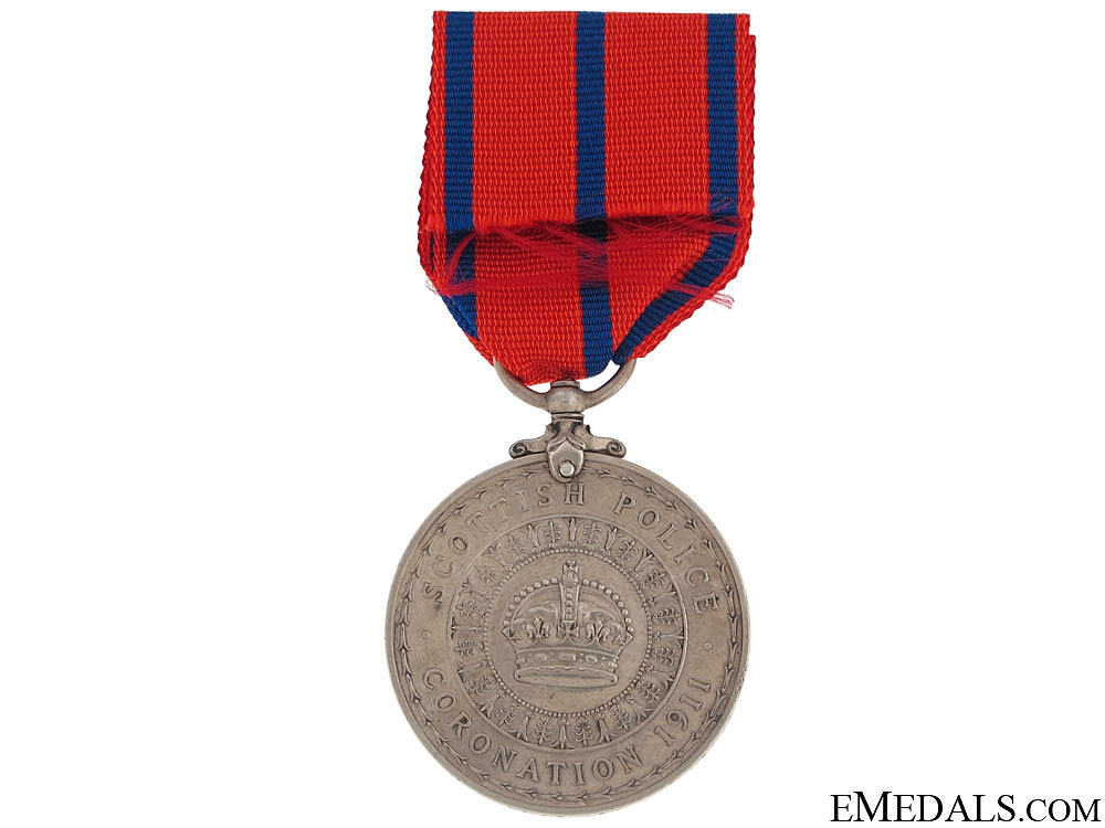 Coronation (Police) Medal 1911 -  Scottish Police