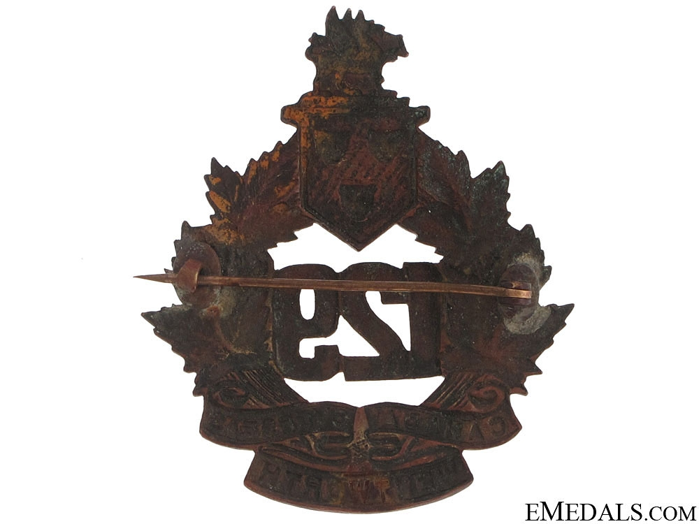 WWI 129th Infantry Battalion Cap Badge CEF