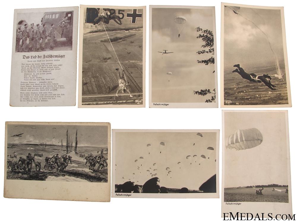 Seven Fallschirmjäger Postcards