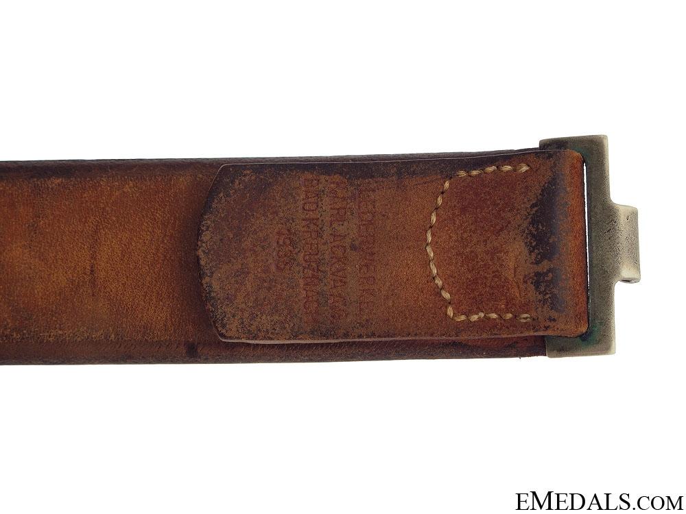 1935 Postschutz Belt & Buckle