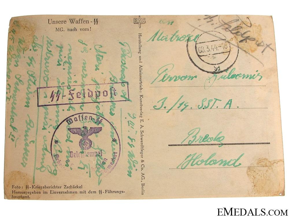 A Waffen-SS Postcard