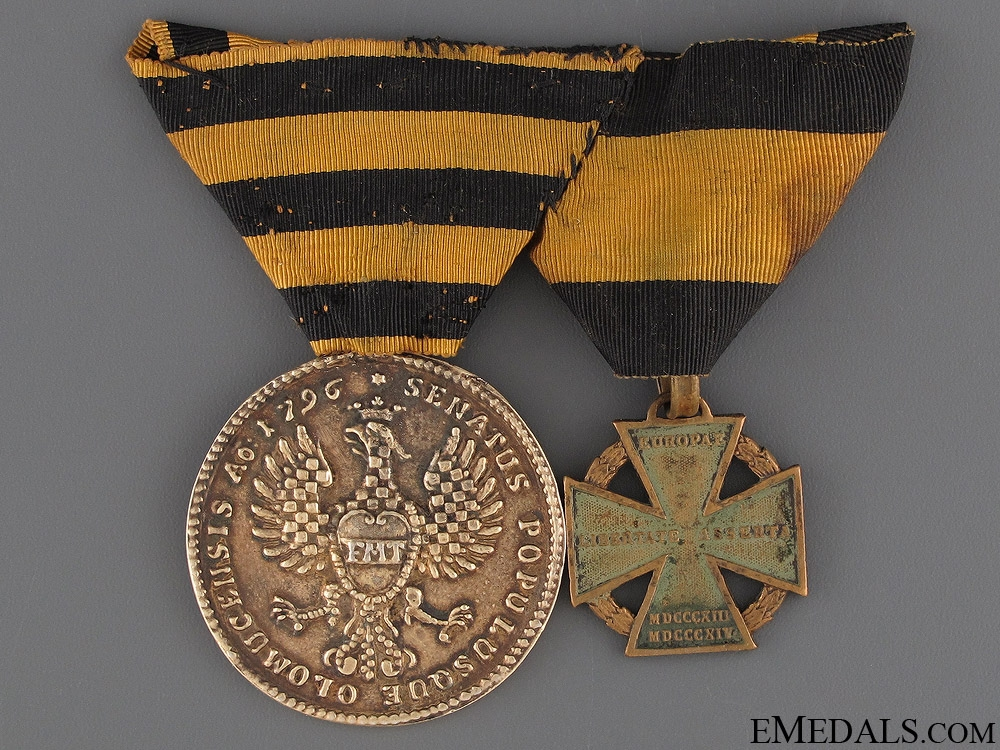 An Extremely Rare Olm¡_tzer Milit¡_rmedaille 1796
