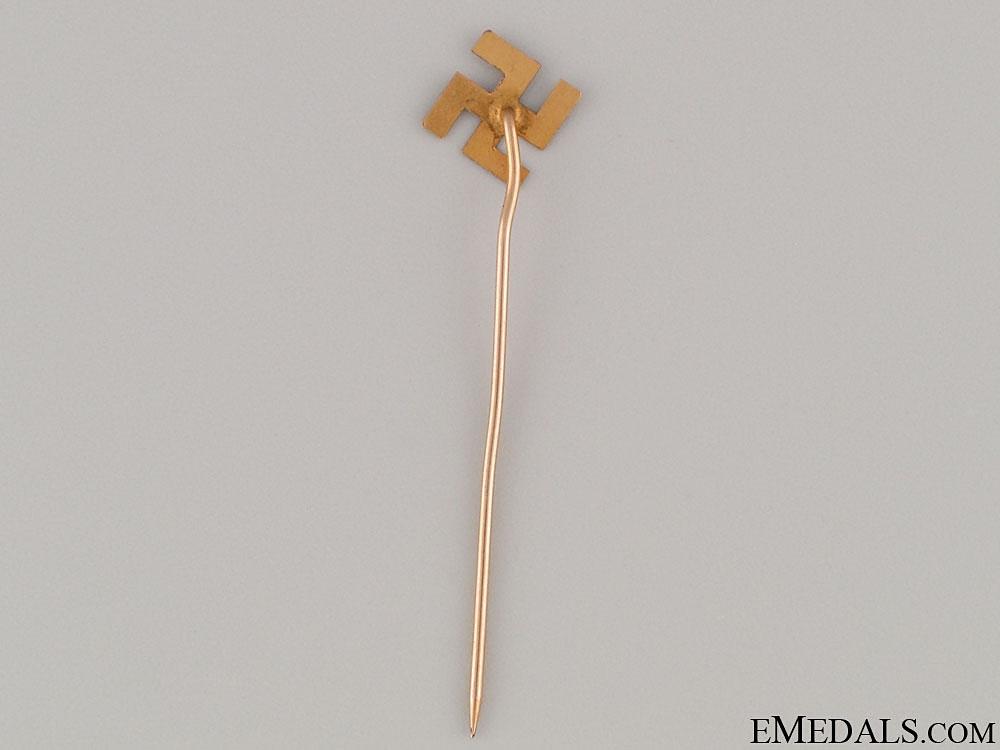 Gold Swastika pin