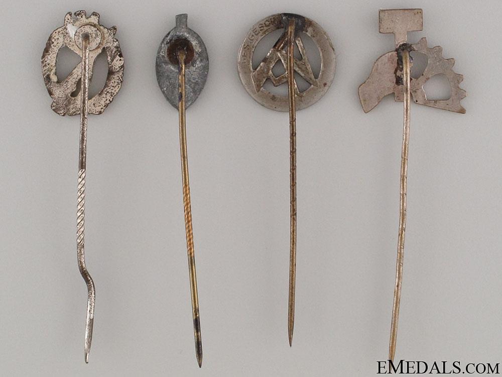 Four German Stickpins