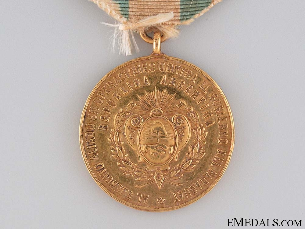 Argentina. An 1865-70 Campaign Medal for the Triple Alliance War