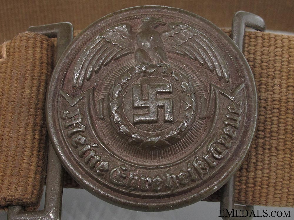 An Extremely Rare SS Officer's Tropical Belt & Buckle