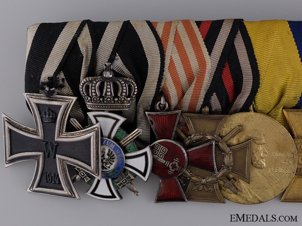 A First War Imperial Medal Bar with Turkish Order of Osmania