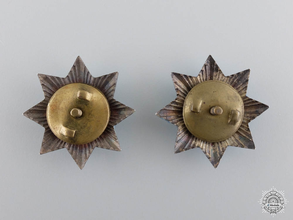 A Miniature Pair of the Bulgarian Order for Bravery