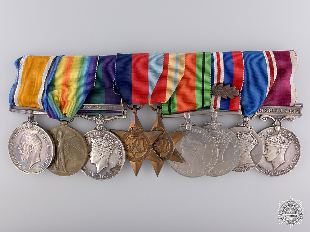A First War & Palestine Service Group of Nine Awards