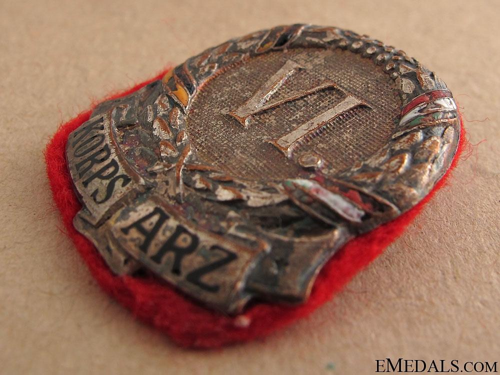 WWI 6th Austrian Army Insignia, 1914