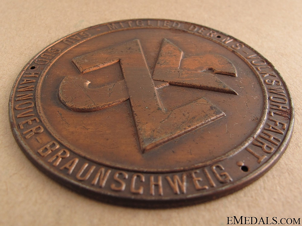 WWII German Door Plate