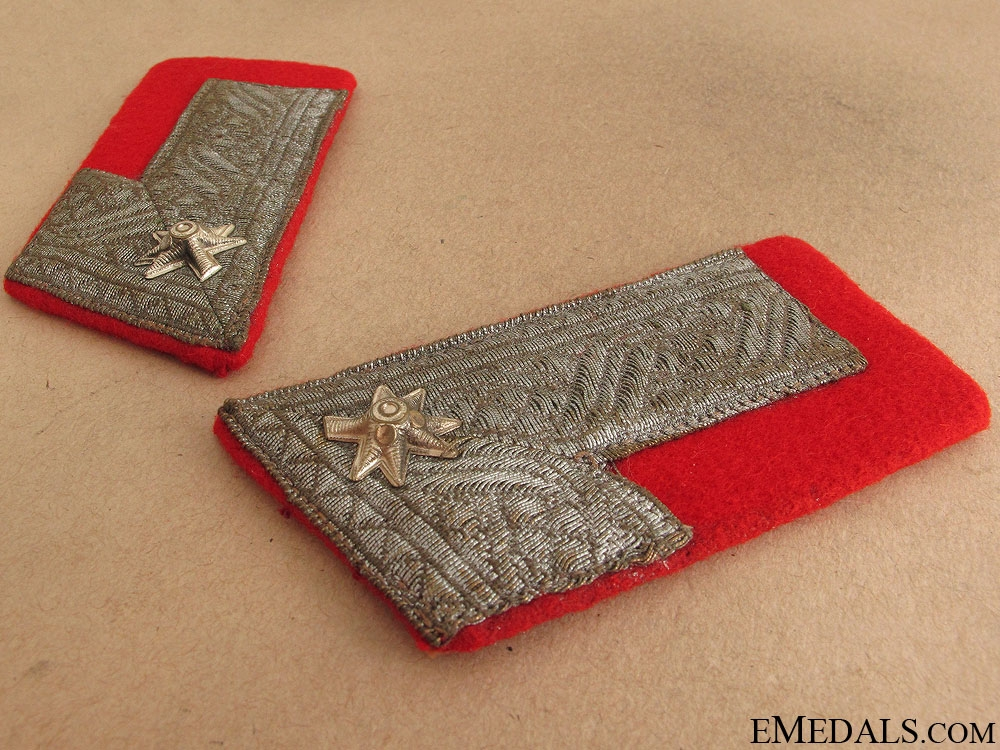 Major of Croatian Home Army Collar Tabs