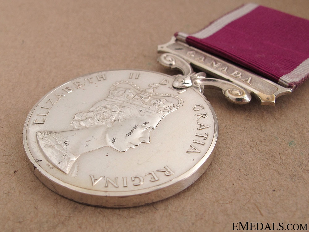 A Canadian Long Service & Good Conduct Medal